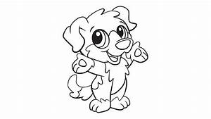 Sesame Street Elmo Lick By Little Dog Coloring Page ...