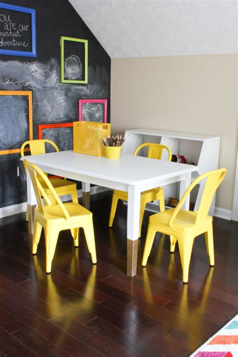 Diy Kids Art Table  Erin Spain. Kidney Shaped Writing Desk. Desk Plant. 8ft Folding Table. Vpn Help Desk. Ikea Sofa Tables. Flat Drawer Pulls. Poker Tables. Ikat Table Runner