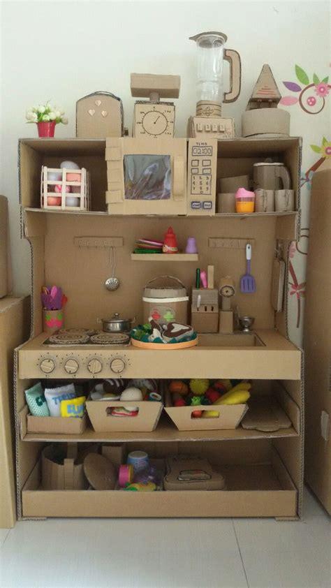 Cardboard Kitchen Playset …  Diy Crafts Cardb…