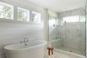 Large White Marble Staggered Floor Tiles With Dip Dyed