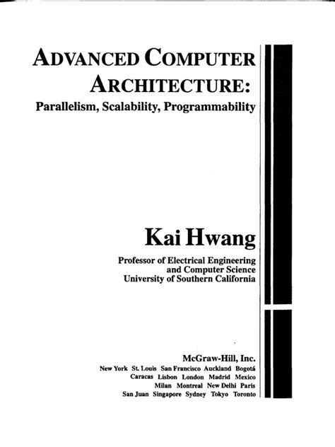 Advanced Computer Architecture Kai Hwang | Parallel