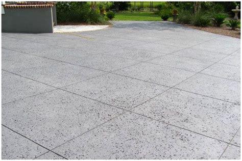 rock salt deck salt finish concrete paving concrete