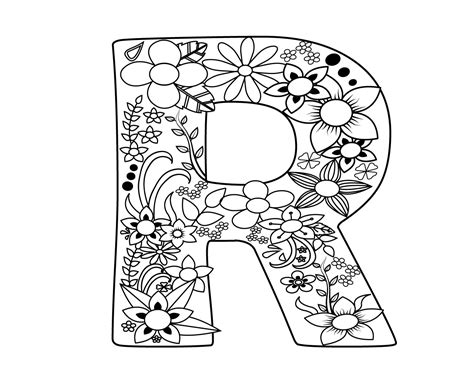 easy letter  coloring pages  print
