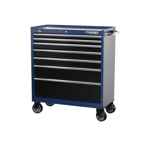 husky tool storage cabinets husky 37 in 7 drawer tool cabinet with blue body and