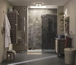 Salle De Bain Italienne Leroy Merlin : une douche l 39 italienne dans une salle de bains nature ~ Melissatoandfro.com Idées de Décoration