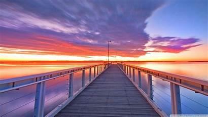 Morning Wallpapers Sky Exposure Wharf Sunset Nature