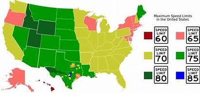 Speed Limits Svg Interstate States State United