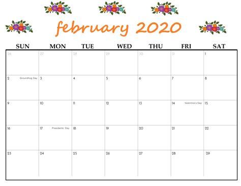 printable february  calendar calendar kart