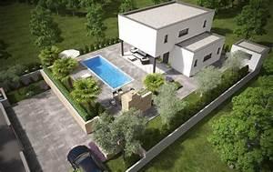 Haus Garten Genuss 2017 : modernes haus mit pool garten und meerblick in malinska domino immobilien krk ~ Whattoseeinmadrid.com Haus und Dekorationen