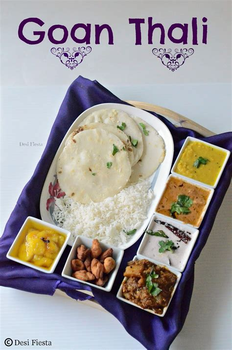cuisines of goan thali a simple goan lunch menu