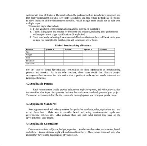 project report format template project report template