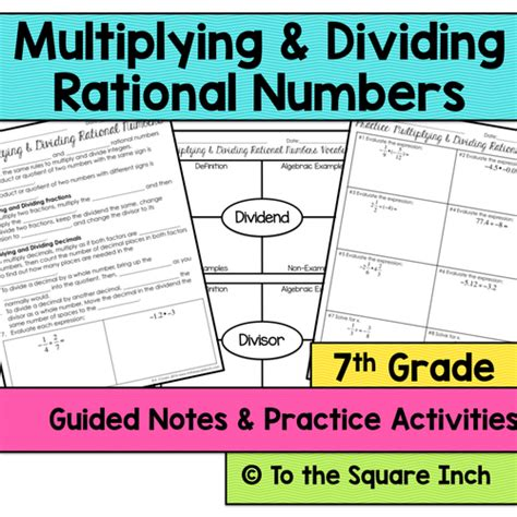 Number System 7th Grade Math Guided Notes And Activities Bundle By Katembee  Us Teacher