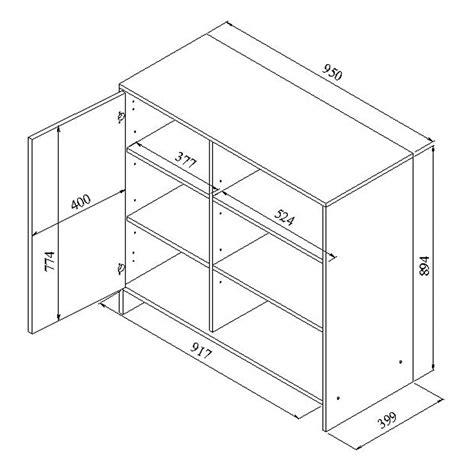 schema cuisine meuble bas de cuisine 1 porte 3 niches 95 cm noir blanc