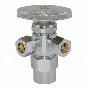Eastman Dual Outlet Shut-off Valve  2 In  Cpvc X 3  8 In