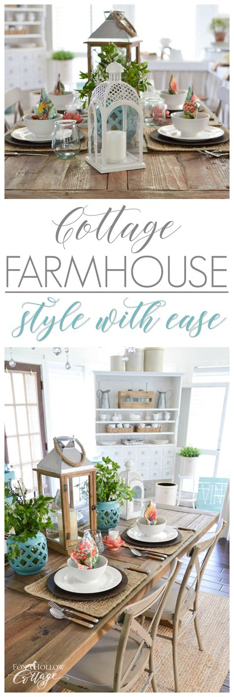 Decorating Ideas - cottage farmhouse table decorating ideas fox hollow cottage