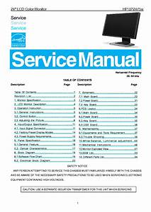 Hp Lp2475w Lcd Monitor Sm Service Manual Download