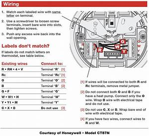 Honeywell Thermostat Wiring Instructions