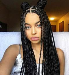 Cornrow Box Braids Hairstyles for Black Women