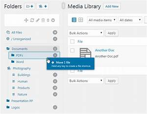 wordpress real media library media categories folders With documents library wordpress