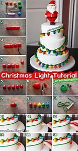 How To Make Fondant Christmas Light Cake  Diy Step By Step