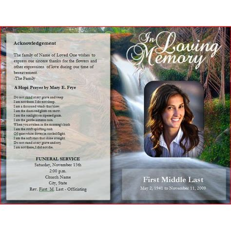 free funeral program template six resources to find free funeral program templates to