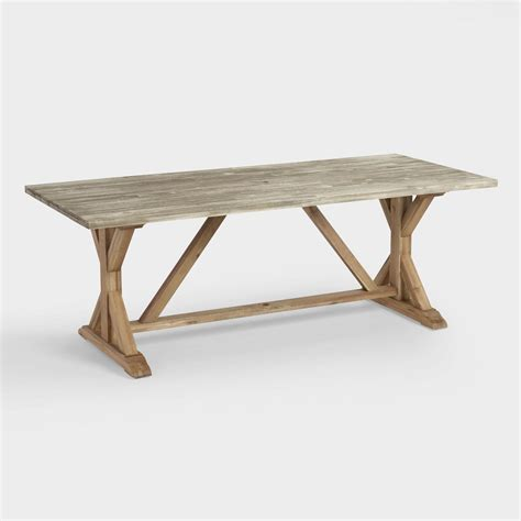Trestle Dining Table by Two Tone Wood San Remo Trestle Dining Table World Market