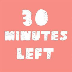 30 Minutes left in our happy hour! Thanks so much for ...