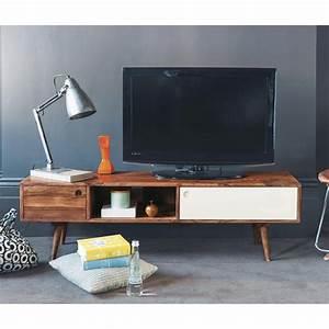 Tv Möbel Vintage : tv lowboard im vintage stil aus sheeshamholz affordable furniture home furniture deco furniture ~ Watch28wear.com Haus und Dekorationen