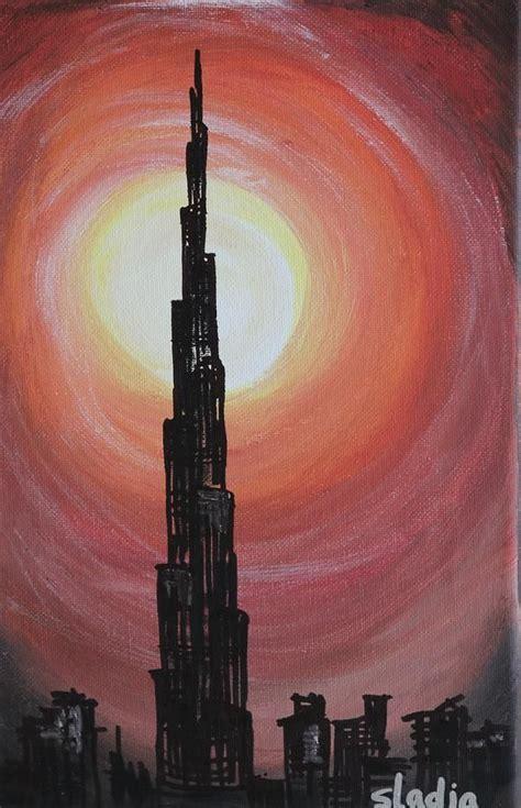 burj khalifa  drawing drawings art gallery