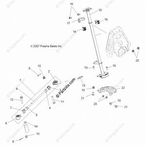 Polaris Atv 2010 Oem Parts Diagram For Steering  Steering