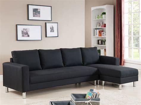 canap tissu noir canapé d 39 angle tissu réversible 5 places quot vigo quot noir 68228