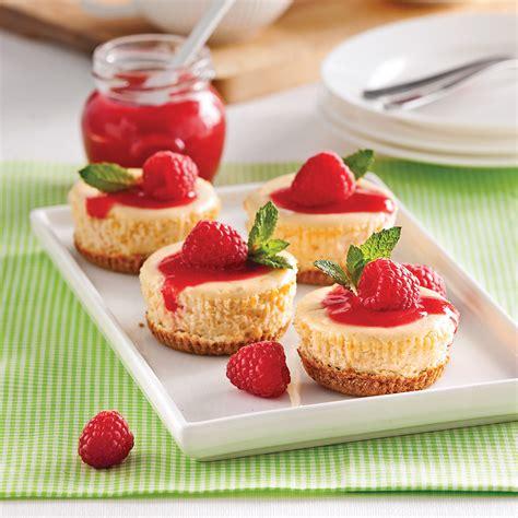 cuisine framboise mini cheesecakes aux framboises recettes cuisine et
