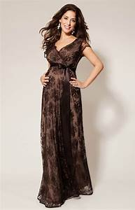 eden maternity gown long chocolate maternity wedding With robe ceremonie grossesse