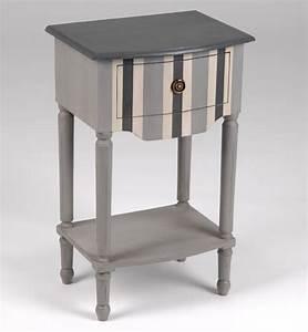 Table Chevet Grise : table de chevet grise pas cher ~ Teatrodelosmanantiales.com Idées de Décoration