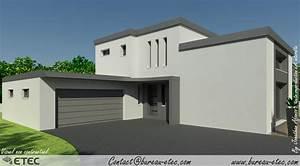 maison toit terrasse dijon sud etec With site de plan de maison 11 terrasse