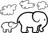 Elephant Drawing Coloring Pages Baby Cute Shower Getdrawings sketch template