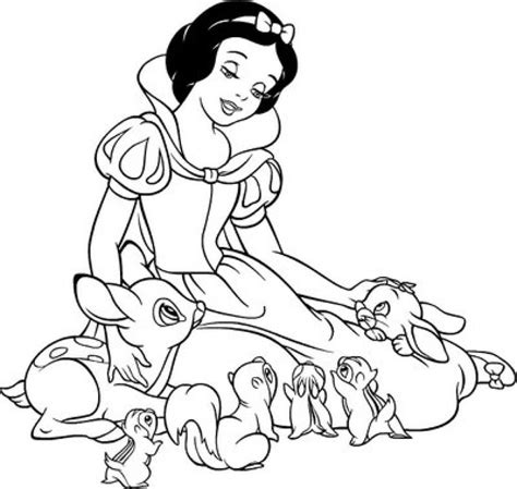 disney coloring pages snow white  getcoloringscom