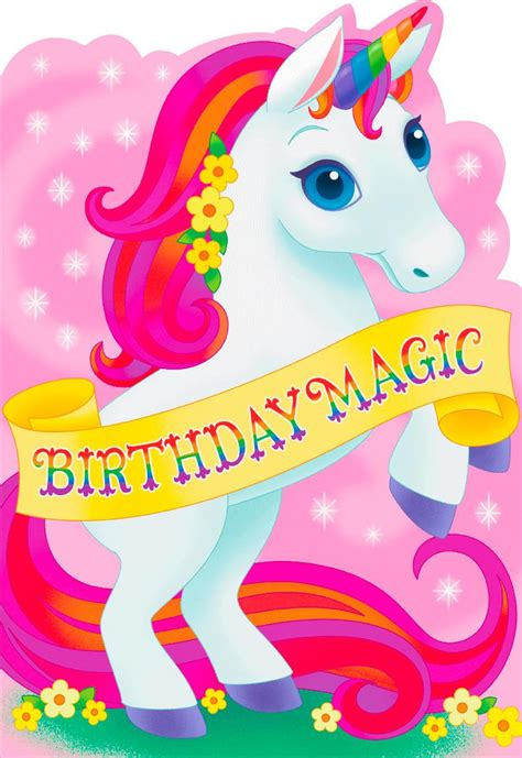 Birthday Magic Uni Rn Jumbo Birthday Card