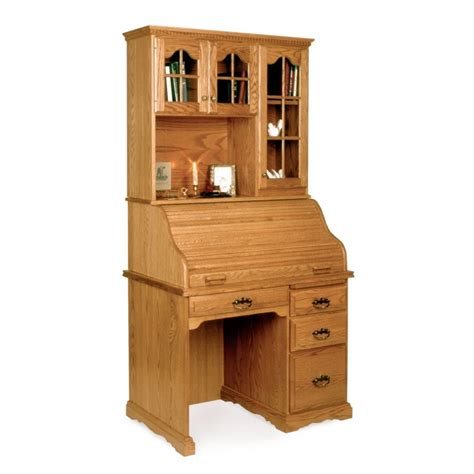 mini hutch for desk small 40 quot roll top desk hutch amish small 40 quot roll top