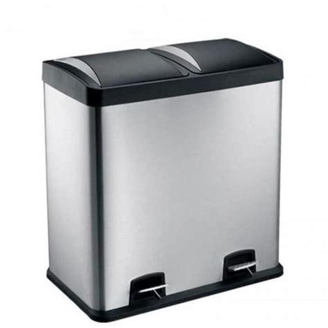 poubelle de cuisine brabantia poubelle 2 compartiments 60l mécanisme chasse d 39 eau wc