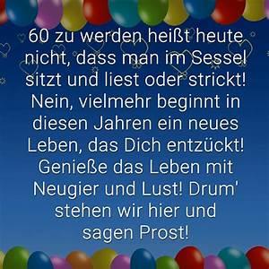 60 Geburtstag Frau Lustig : gl ckw nsche zum 60 geburtstag beliebt lustig kreativ ~ Frokenaadalensverden.com Haus und Dekorationen