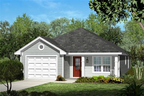 Cottage Style House Plan 3 Beds 2 Baths 1250 Sq/Ft Plan