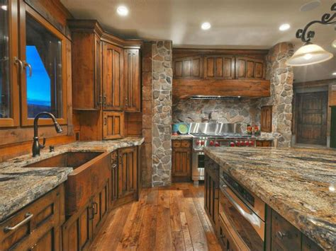 Stunning 5 Images Mountain Home Kitchens