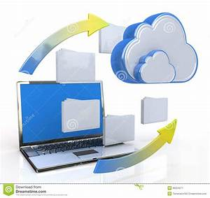 Transferring Data To A Cloud Stock Illustration - Image ...