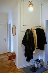 Garderobe Aus Rohren : diy h ngegarderobe aus kupferrohr ideen zum selbermachen f r zu hause haus deko und ~ Watch28wear.com Haus und Dekorationen