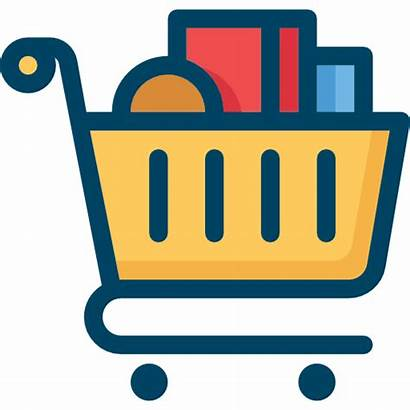 Icon Shopping Icons Compras Ikon Cartoon Gambar