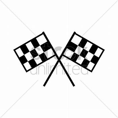 Flag Racing Vector Illustration Stockunlimited Graphic