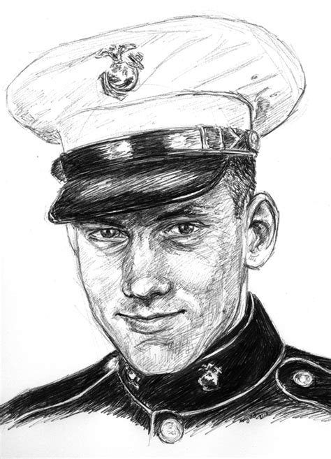 Marines Drawing Sketches