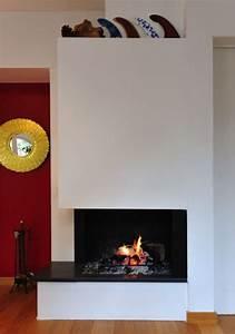 Cheminée à Foyer Ouvert : conception d 39 une chemin e d 39 angle foyer ouvert en ~ Premium-room.com Idées de Décoration