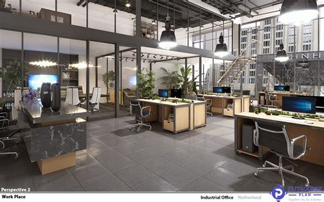 industrial interior design   office